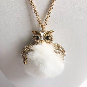 Kate Spade Star Bright Fuzzy Owl Necklace